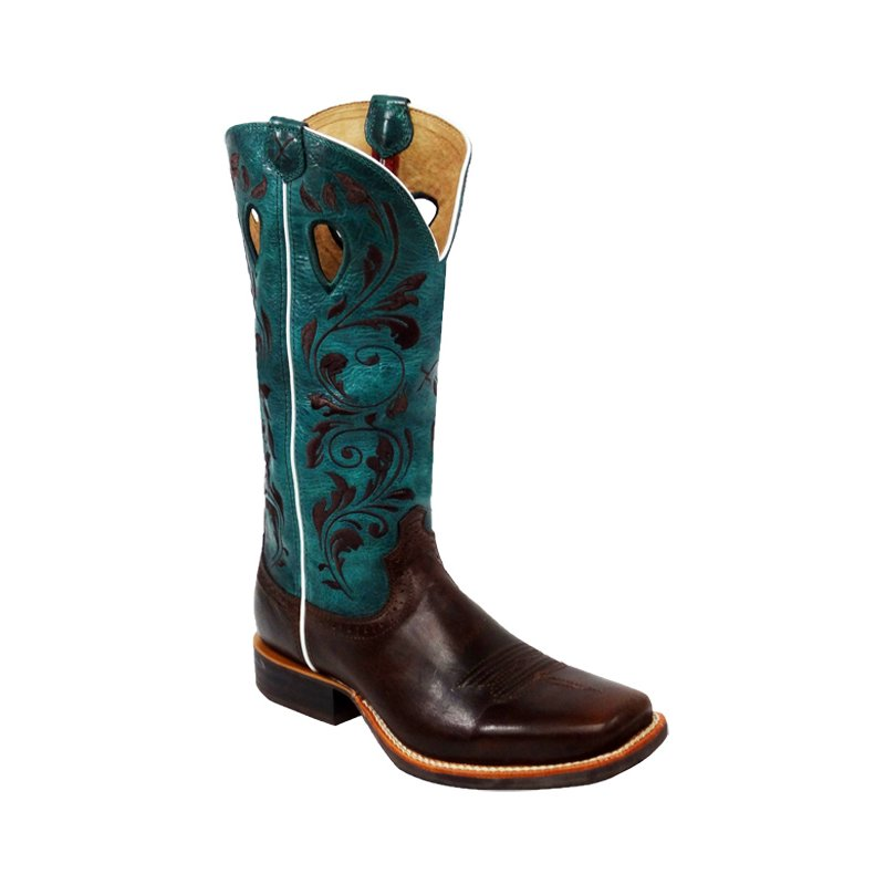 Cowboystiefel Twisted X Women's Ruff Stock Red Türkis